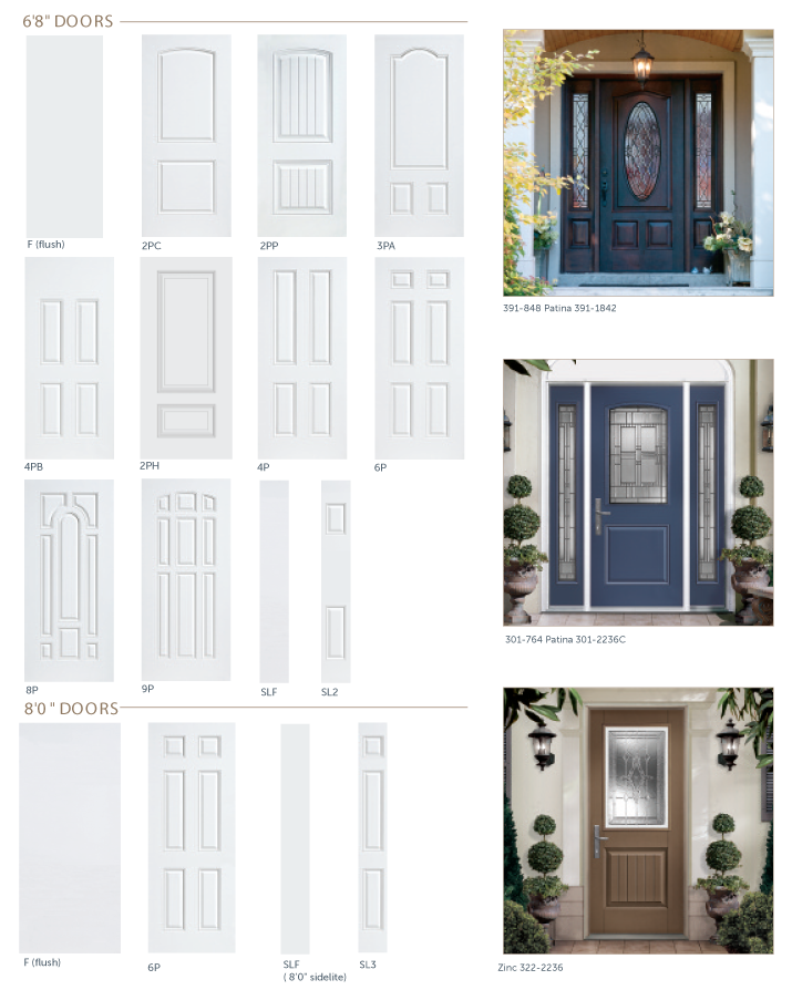 ... Interlocking design using grooved stiles for added strength and structural rigidity plus steel facings that wrap over stiles with a \u201cJ\u201d bend & First Choice : Elegance Entry Door Series Pezcame.Com